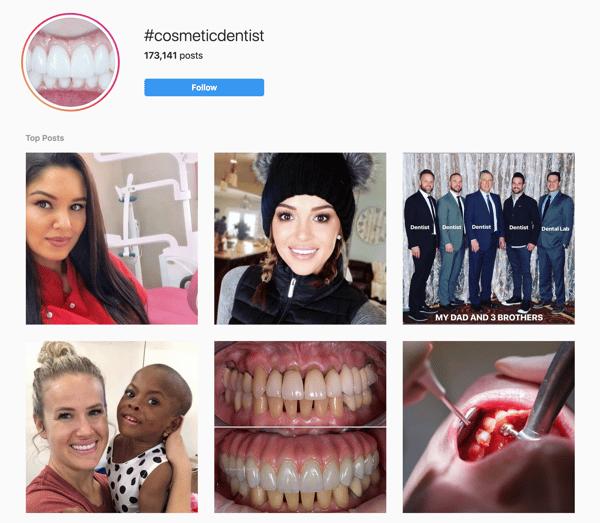 #cosmeticdentist social media tips