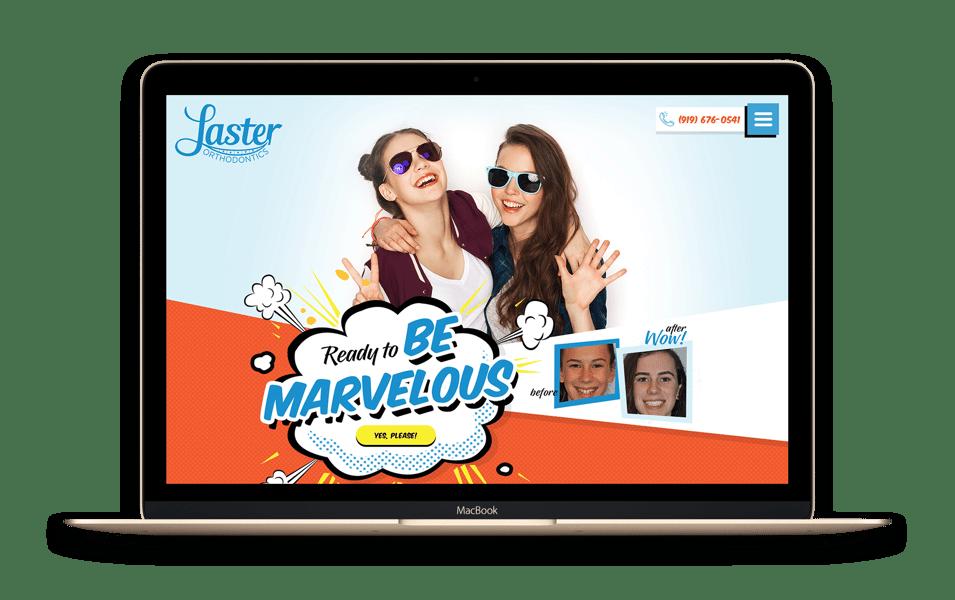 Custom Dental Website Mockup