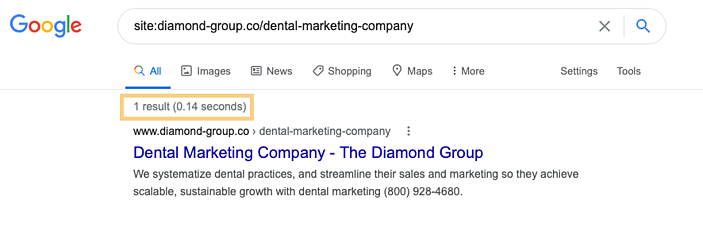 Google-site search for SEO