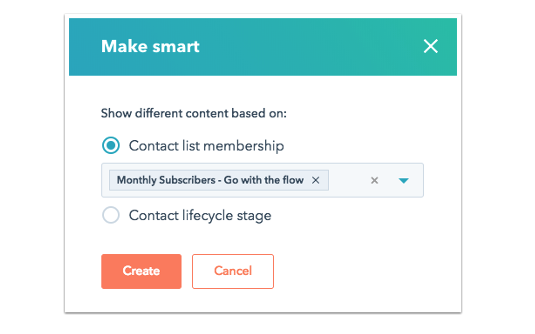 Smart Content with HubSpot