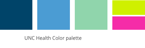 UNC Health color palette