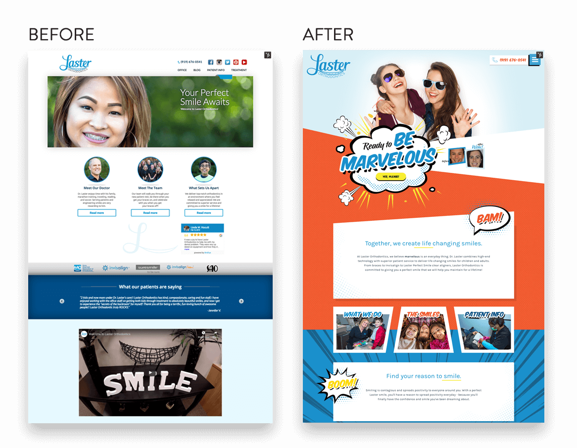 custom dental website before and after (2)