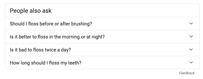 seo featured snippet dentists