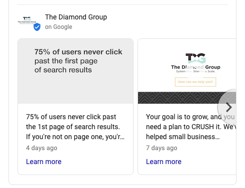 Knowledge Panel - The Diamond Group