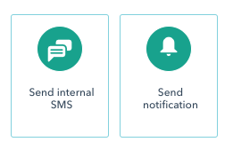 HubSpot Workflows messaging options