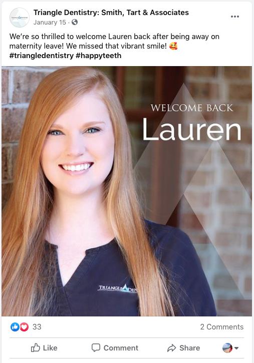 Facebool dental ads